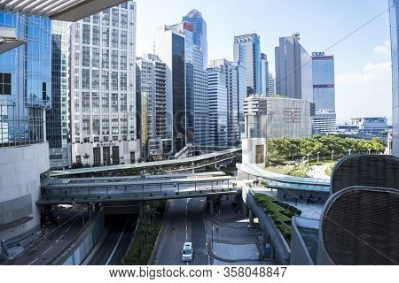 Hong Kong - September 2019 :  Central Business District Of Hong Kong, Located In Central And Western