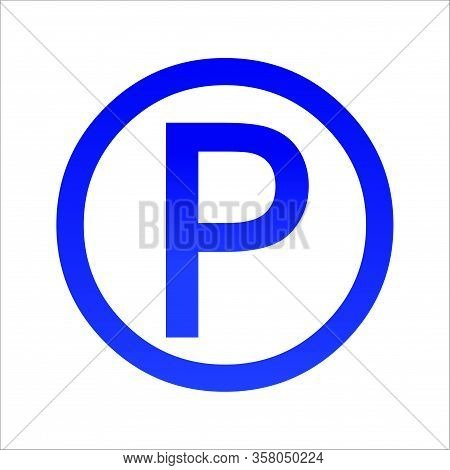 Parking Location Pin Vector Icon. Filled Flat Sign For Mobile Concept And Web Design. Parking Map Ma