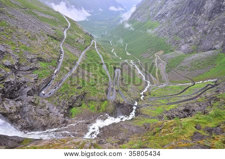 """Famous """"Troll's Path"""" (Trollstigen/ Trollstigveien), Norway"""