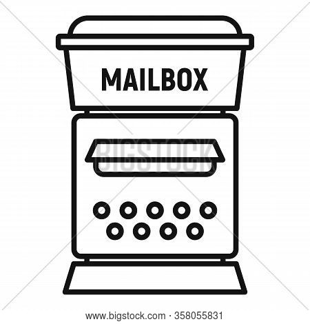 Postal Mailbox Icon. Outline Postal Mailbox Vector Icon For Web Design Isolated On White Background