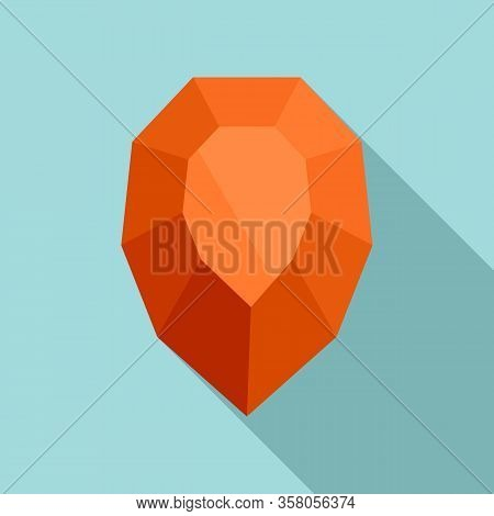 Purity Jewel Icon. Flat Illustration Of Purity Jewel Vector Icon For Web Design