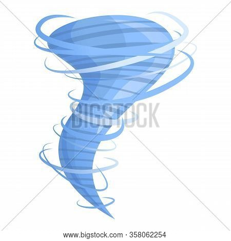 Speed Tornado Icon. Cartoon Of Speed Tornado Vector Icon For Web Design Isolated On White Background