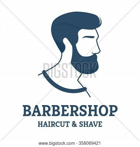 Flyer Barbershop Haircut And Shave For Gentleman. Advertising Poster Which To Attract Customers With
