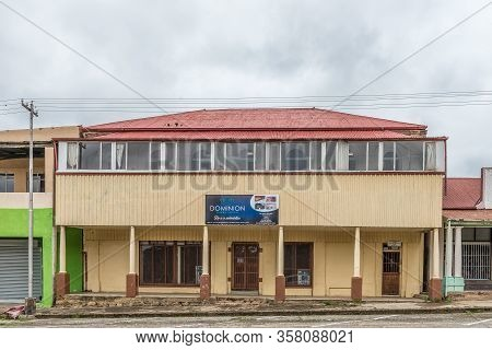 Winburg, South Africa - March 1, 2020: A Funeral Parlour In An Historic, Old, Building, In Winburg,