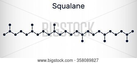 Squalane Molecule. It Is Used In Cosmetics As Emollient And Moisturizer Structural Chemical Formula.