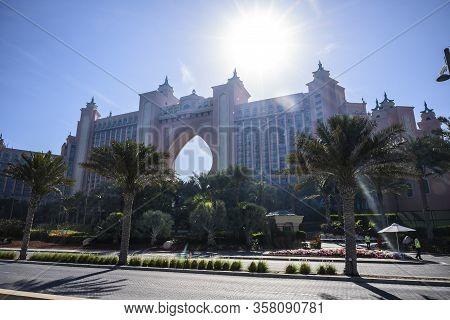 Atlantis Hotel In Dubai, Uae. The Sunny Morning Of March 13, 2020
