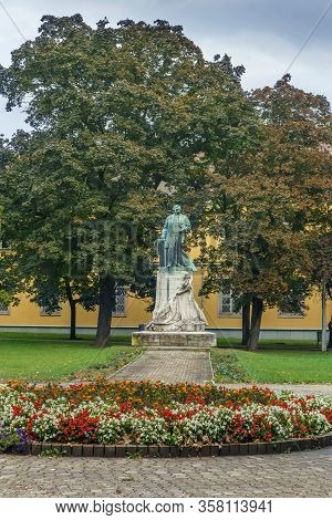 Deak Ferenc Square With Its Monument In Miskolc, Hungary