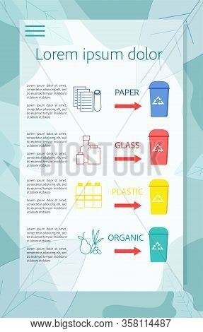 Special Aid Infographics With Type Of Segregation Garbage And Description How Correctly To Determine