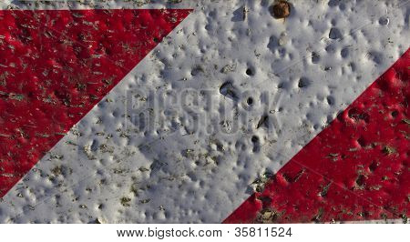 Red and White Warning Texture