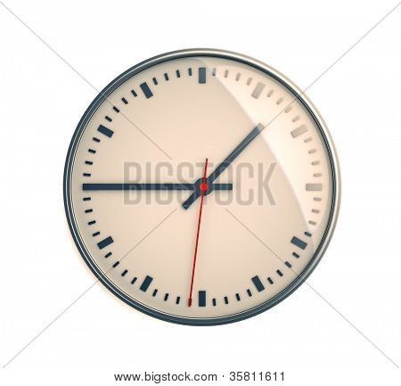 The dial switches clock close-up, 3d image