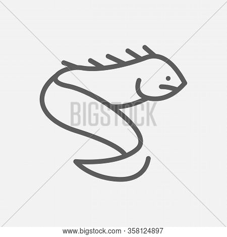 Eel Snake Icon Line Symbol. Isolated Vector Illustration Of Icon Sign Concept For Your Web Site Mobi