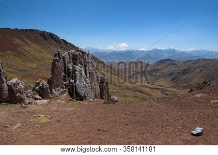 The Sharp Rocks Of The Stone Forest On Palccoyo Mountain Near The Rainbow Mountains, Peru