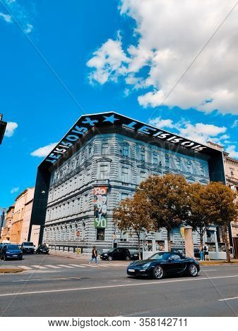 Budapest, Hungary - September 13, 2019: View Of The Landmark House Of Terror Museum, Budapest, Hunga