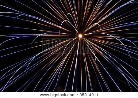 Fireworks Raidiating Burst