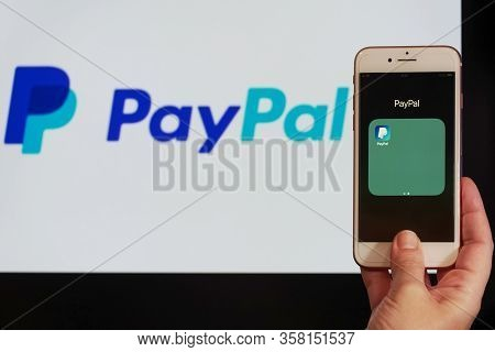 Thessaloniki, Greece - March 21 2020: Paypal Holdings Inc. Online Money Transfers & Payments Company