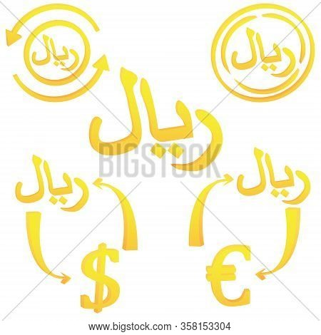 Iranian Rials Currency Symbol Icon Of Iran Vector Illustration On A White Background