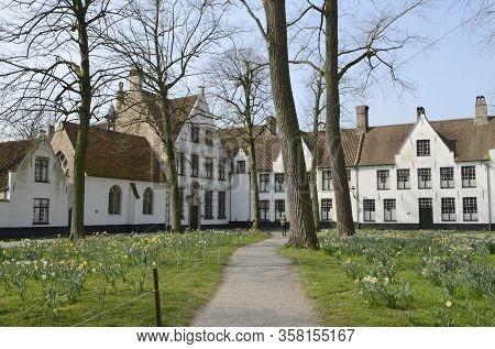 Footpath At Brugge Beguinage