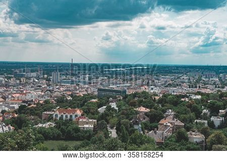 Panorama View On The Budapest, Hungary Close Up