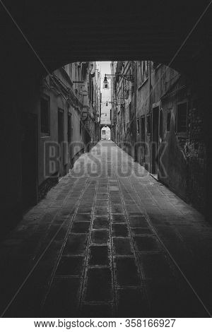 Classic Road In Venice, Italy Close Up