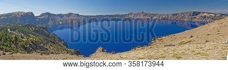Crater Lake Panorama In Crater Lake National Park In Oregon