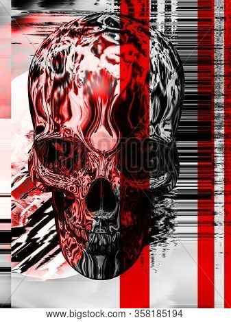 psychedelic glitch poster art dope