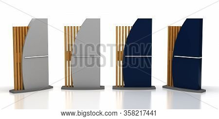 Blank Outdoor Sign On White Background 3d Rendering