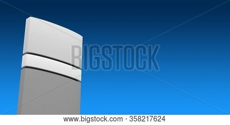 Outdoor Sign Tower And Clear Sky 3d Rendering