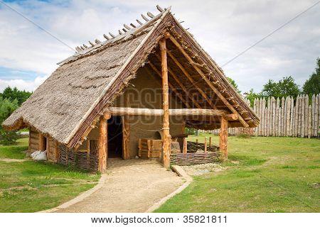 Blacksmith house in faktory village, Pruszcz Gdanski, Poland