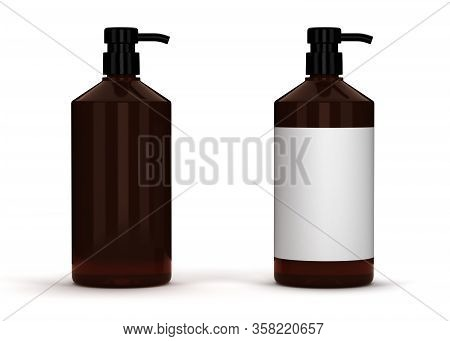 Blank Brown Package (isolated With Clipping Path)