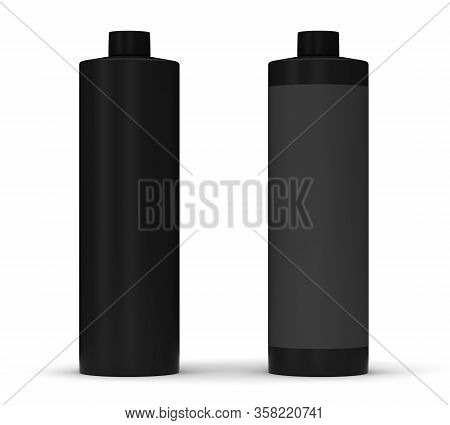 Blank Black Package (isolated With Clipping Path)
