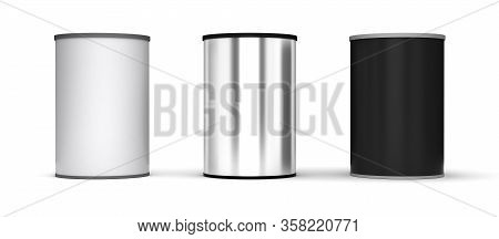 Blank Tin Packages (isolated With Clipping Path)