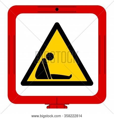 Danger Confined Space Symbol Sign, Vector Illustration, Isolate On White Background Label. Eps10