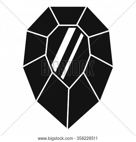 Solid Jewel Icon. Simple Illustration Of Solid Jewel Vector Icon For Web Design Isolated On White Ba