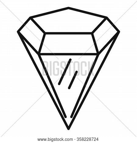 Radian Gemstone Icon. Outline Radian Gemstone Vector Icon For Web Design Isolated On White Backgroun