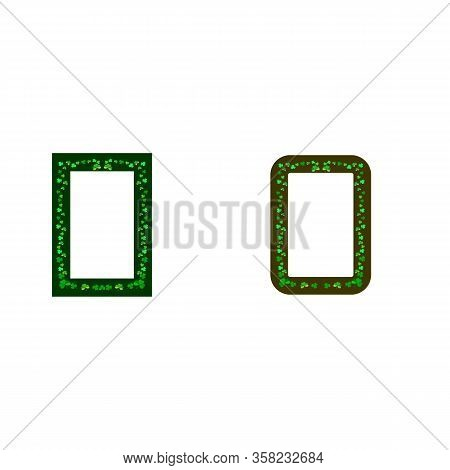 Frames With Clover. Fashion Graphic Background. Modern Stylish Abstract Texture. Colorful Template F