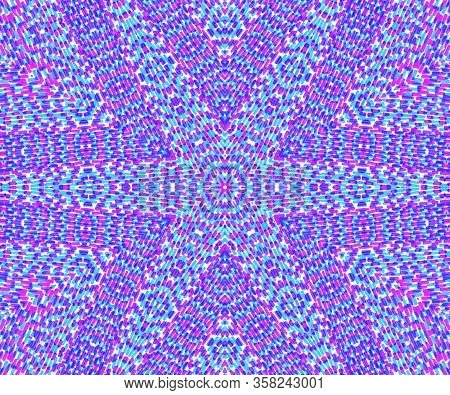 Abstract Concentric Mottled Colorful Pattern Background For Design