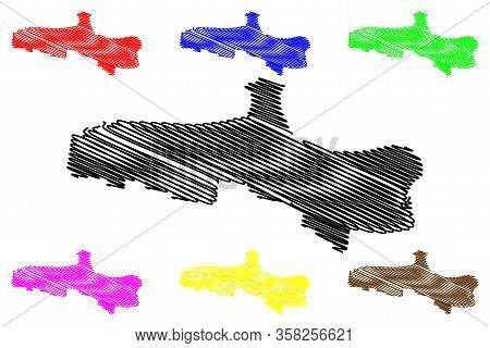 Hervey Bay City, Queensland (commonwealth Of Australia, Australia City) Map Vector Illustration, Scr