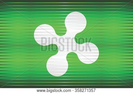 Shiny Grunge Flag Of The Lombardy - Illustration,  Three Dimensional Flag Of Lombardy