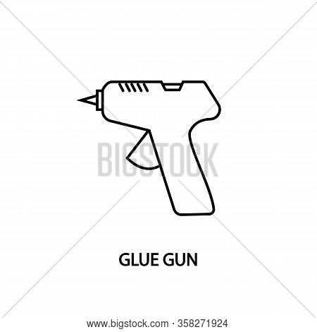 Glue Gun Line Icon. Concept For Web Banners, Site And Printed Materials. Needlework Equipment