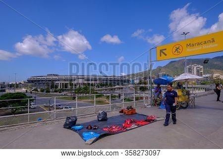 Rio De Janeiro, Rio, Brazil, Sept 05, 2018: Outside View Of The Maracana Stadium In Rio De Janeiro,