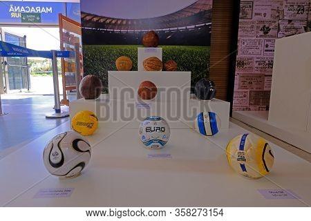 Rio De Janeiro, Rio, Brazil, Sept 05, 2018: The Museum Exhibition In The Maracana Soccer Stadium, Ri