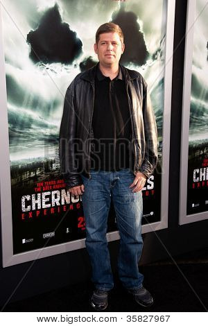 HOLLYWOOD, CA - MAY 23: Oren Peli arrives at the Special Fan Screening of Chernobyl Diaries at the Cinerama Dome on  May 23, 2012 in Hollywood, California.