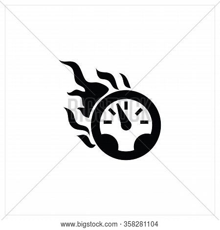 Speedometer Icon Isolated On White Background From Motor Sports Collection. Speedometer Icon Trendy
