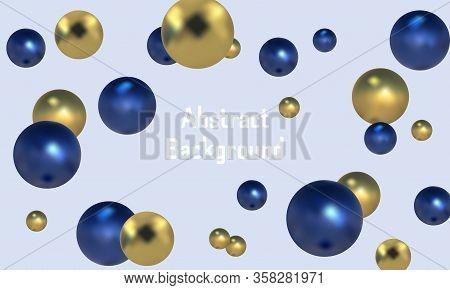 3d Spheres Background With Organic Spheres. Molecule
