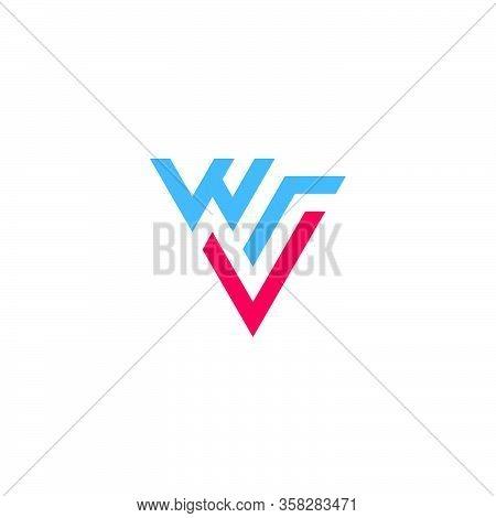 Letter W R V  Simple Geometric Triangle Logo Vector Unique Unusual Design Concept