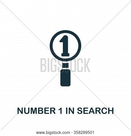 Number 1 In Search Icon From Seo Collection. Simple Line Number 1 In Search Icon For Templates, Web