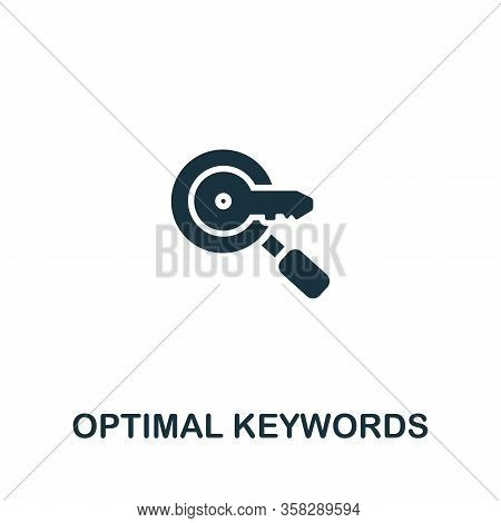 Optimal Keywords Icon From Seo Collection. Simple Line Optimal Keywords Icon For Templates, Web Desi