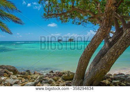 Coastline Of Rocky Cay Beach In San Andres