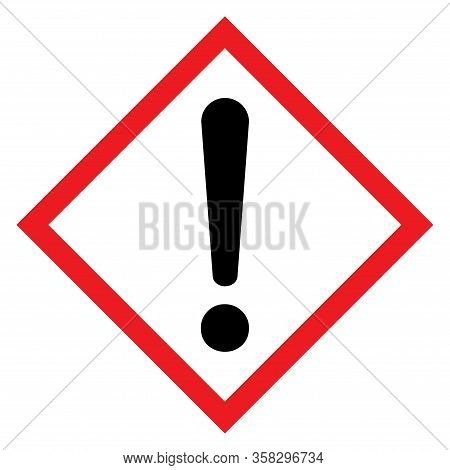 Exclamation Mark Flat Design Icon Vector. Hazard Warning Attention Sign Isolated On White Background