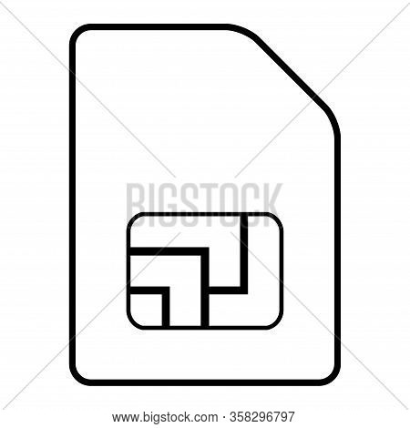 Sim Card Icon Isolated On White Background. Sim Card  Mobile Slot . Smart Design